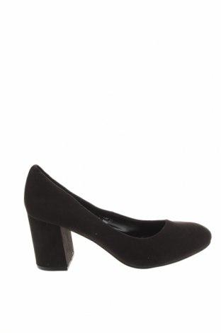 Дамски обувки, Размер 37, Цвят Черен, Текстил, Цена 12,77лв.