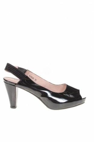 Дамски обувки Blue Illusion, Размер 39, Цвят Черен, Естествена кожа, Цена 15,44лв.