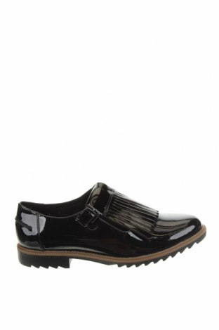 Дамски обувки Clarks, Размер 42, Цвят Черен, Естествена кожа, еко кожа, Цена 97,30лв.