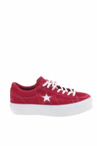 Дамски обувки Converse, Размер 41, Цвят Розов, Естествен велур, Цена 103,35лв.