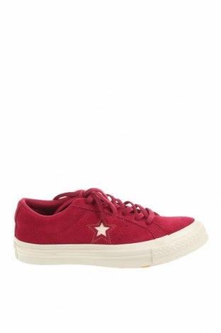 Дамски обувки Converse, Размер 36, Цвят Червен, Естествен велур, Цена 103,35лв.