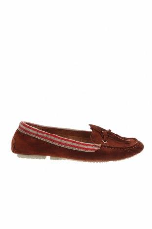 Дамски обувки Fratelli Rossetti, Размер 37, Цвят Червен, Естествен велур, Цена 73,64лв.