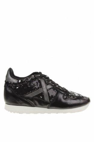 Γυναικεία παπούτσια Munich, Μέγεθος 40, Χρώμα Μαύρο, Κλωστοϋφαντουργικά προϊόντα, γνήσιο δέρμα, Τιμή 33,33€