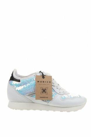 Дамски обувки Munich, Размер 37, Цвят Бял, Естествена кожа, текстил, Цена 86,42лв.