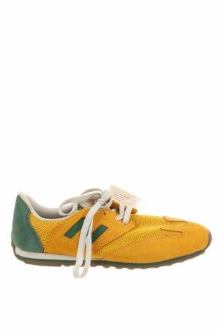 Дамски обувки New Balance, Размер 41, Цвят Жълт, Текстил, естествена кожа, естествен велур, Цена 93,45лв.