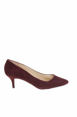 Дамски обувки Nine West, Размер 37, Цвят Червен, Естествен велур, Цена 54,60лв.