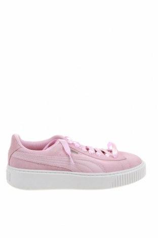 Дамски обувки PUMA, Размер 39, Цвят Розов, Естествен велур, Цена 71,82лв.