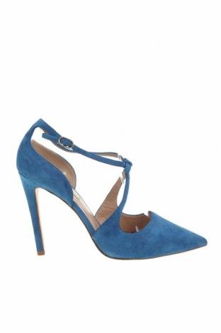 Дамски обувки Pura Lopez, Размер 37, Цвят Син, Естествен велур, Цена 155,35лв.