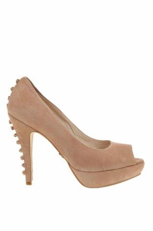 Дамски обувки Supertrash, Размер 40, Цвят Розов, Естествен велур, Цена 33,15лв.