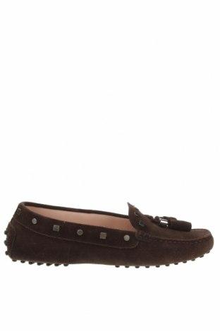 Дамски обувки Tod's, Размер 36, Цвят Кафяв, Естествен велур, Цена 95,76лв.
