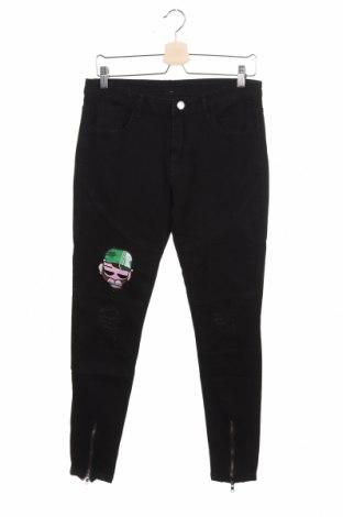 Γυναικείο παντελόνι, Μέγεθος M, Χρώμα Μαύρο, 75% βαμβάκι, 20% πολυεστέρας, 5% ελαστάνη, Τιμή 15,59€