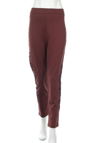Дамски панталон Alfredo Pauly, Размер XL, Цвят Червен, 70% вискоза, 25% полиестер, 5% еластан, Цена 26,93лв.