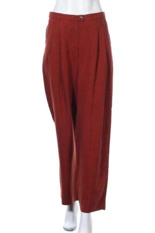 Дамски панталон American Vintage, Размер S, Цвят Червен, Лиосел, Цена 116,07лв.