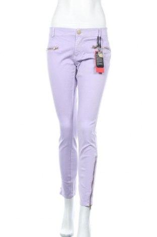 Дамски панталон Ann Christine, Размер XL, Цвят Лилав, 97% памук, 3% еластан, Цена 28,98лв.