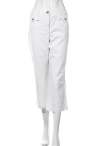Дамски панталон Ann Taylor, Размер L, Цвят Бял, 98% памук, 2% еластан, Цена 82,95лв.