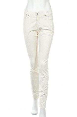 Дамски панталон Anna Montana, Размер S, Цвят Бял, 98% памук, 2% еластан, Цена 30,71лв.