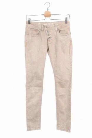 Дамски панталон Buena Vista, Размер XS, Цвят Бежов, 98% памук, 2% еластан, Цена 25,52лв.