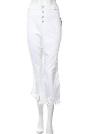 Дамски панталон INC International Concepts, Размер XL, Цвят Бял, 72% памук, 26% полиестер, 2% еластан, Цена 23,36лв.