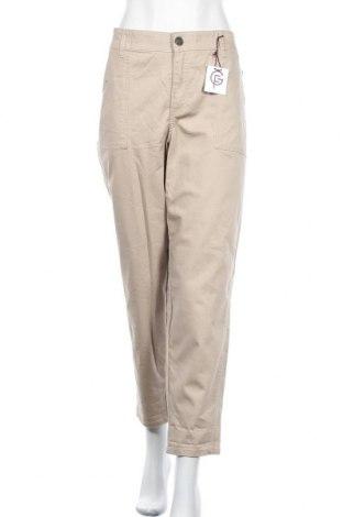 Дамски панталон Lane Bryant, Размер XXL, Цвят Бежов, 88% памук, 10% полиестер, 2% еластан, Цена 25,41лв.