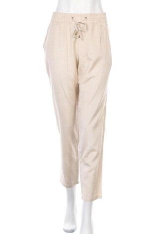 Дамски панталон Lascana, Размер L, Цвят Бежов, 58% вискоза, 28% памук, 14% лен, Цена 57,67лв.
