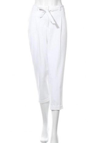 Дамски панталон Madeleine, Размер L, Цвят Бял, 66% полиестер, 28% вискоза, 6% еластан, Цена 13,86лв.