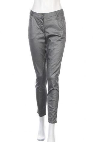 Дамски панталон Madeleine, Размер L, Цвят Сребрист, 74% памук, 24% полиестер, 2% еластан, Цена 33,81лв.