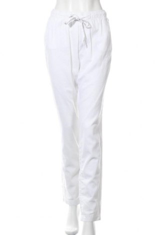 Pantaloni de femei Q/S by S.Oliver, Mărime M, Culoare Alb, 55% in, 45% bumbac, Preț 26,78 Lei