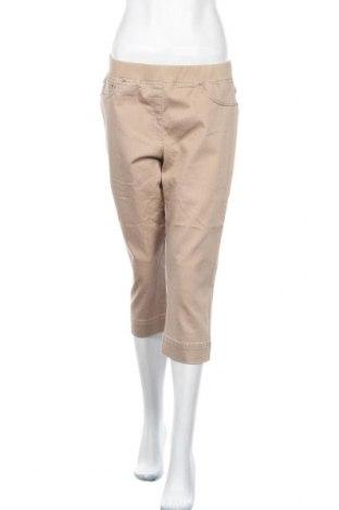 Дамски панталон Raphaela By Brax, Размер L, Цвят Бежов, 78% памук, 18% полиестер, 4% еластан, Цена 30,35лв.