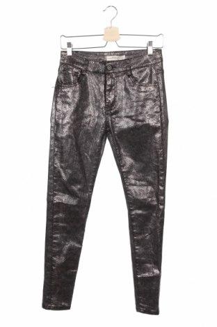 Дамски панталон Redial, Размер S, Цвят Сребрист, 65% памук, 32% полиестер, 3% еластан, Цена 20,16лв.