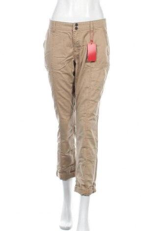 Дамски панталон S.Oliver, Размер M, Цвят Бежов, 63% памук, 37% лиосел, Цена 8,03лв.
