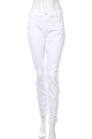 Γυναικείο παντελόνι Tom Tailor, Μέγεθος L, Χρώμα Λευκό, 85% βαμβάκι, 12% πολυεστέρας, 3% ελαστάνη, Τιμή 30,54€