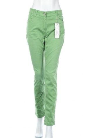 Γυναικείο παντελόνι Tom Tailor, Μέγεθος L, Χρώμα Πράσινο, 98% βαμβάκι, 2% ελαστάνη, Τιμή 34,41€