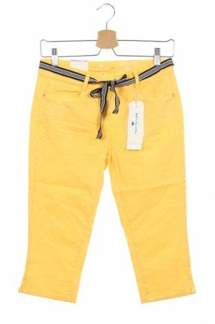 Pantaloni de femei Tom Tailor, Mărime S, Culoare Galben, 98% bumbac, 2% elastan, Preț 24,97 Lei