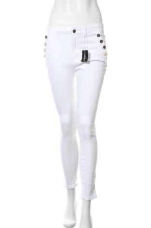 Дамски панталон Vivance, Размер M, Цвят Бял, 97% памук, 3% еластан, Цена 44,25лв.