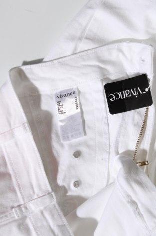 Дамски панталон Vivance, Размер M, Цвят Бял, 97% памук, 3% еластан, Цена 11,46лв.