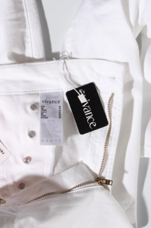 Дамски панталон Vivance, Размер L, Цвят Бял, 97% памук, 3% еластан, Цена 11,46лв.