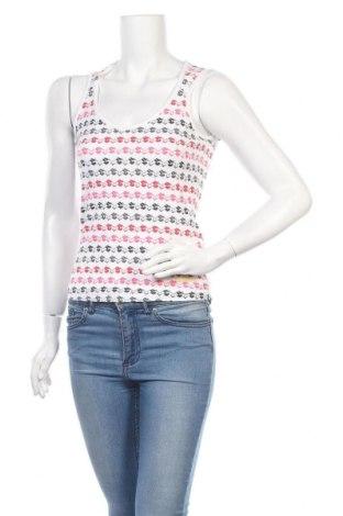 Γυναικείο αμάνικο μπλουζάκι Adidas, Μέγεθος M, Χρώμα Λευκό, 92% βαμβάκι, 8% ελαστάνη, Τιμή 6,68€