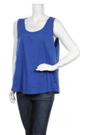 Γυναικείο αμάνικο μπλουζάκι Avella, Μέγεθος XL, Χρώμα Μπλέ, Βαμβάκι, Τιμή 9,74€
