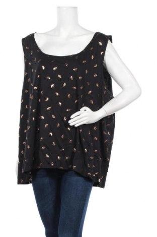 Γυναικείο αμάνικο μπλουζάκι Avella, Μέγεθος 3XL, Χρώμα Μαύρο, Βαμβάκι, Τιμή 10,49€