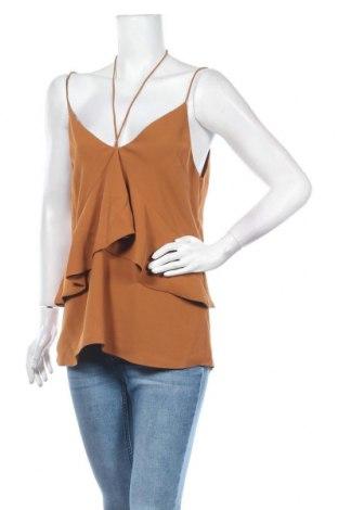 Γυναικείο αμάνικο μπλουζάκι C/MEO Collective, Μέγεθος XL, Χρώμα Καφέ, Πολυεστέρας, Τιμή 22,20€