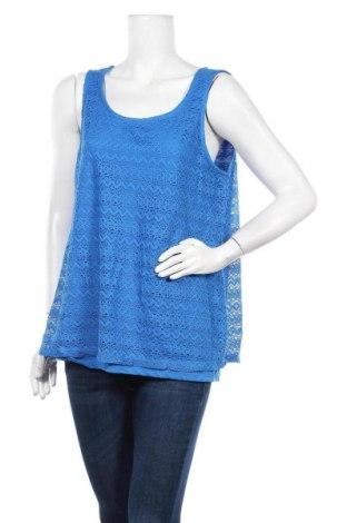 Γυναικείο αμάνικο μπλουζάκι Suzanne Grae, Μέγεθος L, Χρώμα Μπλέ, Πολυεστέρας, Τιμή 9,87€