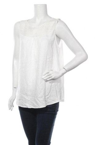 Γυναικείο αμάνικο μπλουζάκι Tom Tailor, Μέγεθος XXL, Χρώμα Λευκό, 65% πολυεστέρας, 35% βισκόζη, Τιμή 5,43€
