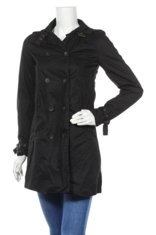 Дамски шлифер Pull&Bear, Размер S, Цвят Черен, Полиестер, Цена 39,00лв.