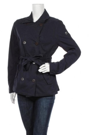Дамски шлифер Q/S by S.Oliver, Размер L, Цвят Син, 72% памук, 28% полиамид, Цена 76,30лв.