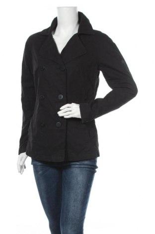 Дамски шлифер Q/S by S.Oliver, Размер S, Цвят Черен, Памук, Цена 90,30лв.