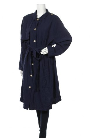 Дамски шлифер Tom Tailor, Размер 4XL, Цвят Син, 92% вискоза, 8% полиестер, Цена 83,85лв.