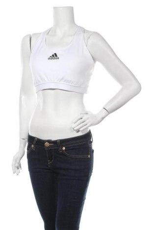 Γυναίκειο αθλητικό τοπ Adidas, Μέγεθος XL, Χρώμα Λευκό, Πολυεστέρας, ελαστάνη, Τιμή 18,93€