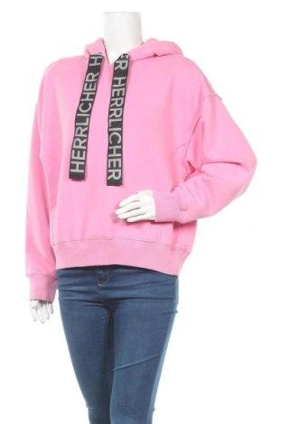 Дамски суичър Herrlicher, Размер L, Цвят Розов, 80% памук, 20% полиестер, Цена 57,85лв.