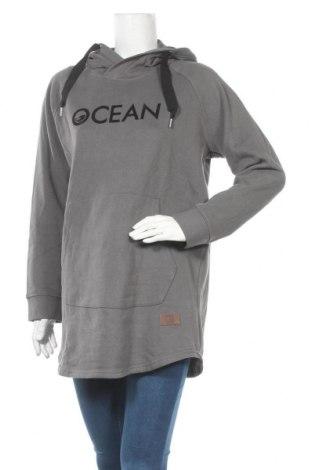 Γυναικείο φούτερ Ocean, Μέγεθος L, Χρώμα Γκρί, 60% βαμβάκι, 40% πολυεστέρας, Τιμή 28,50€