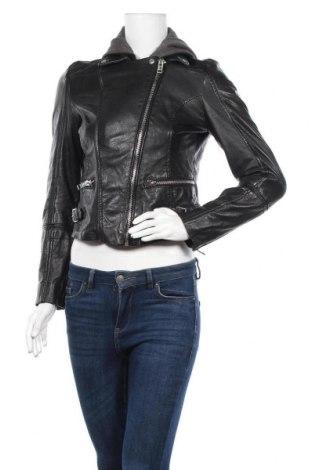 Γυναικείο δερμάτινο μπουφάν Gipsy, Μέγεθος S, Χρώμα Μαύρο, Γνήσιο δέρμα, Τιμή 106,28€